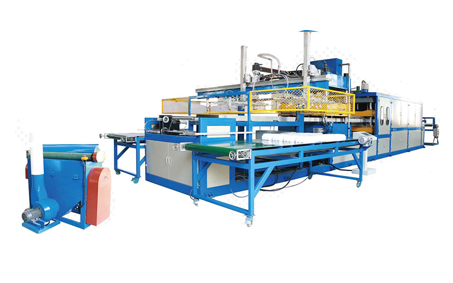 Double Worktables Fully automatic vacuum forming machine