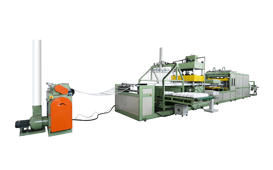 Absorbent tray making machine